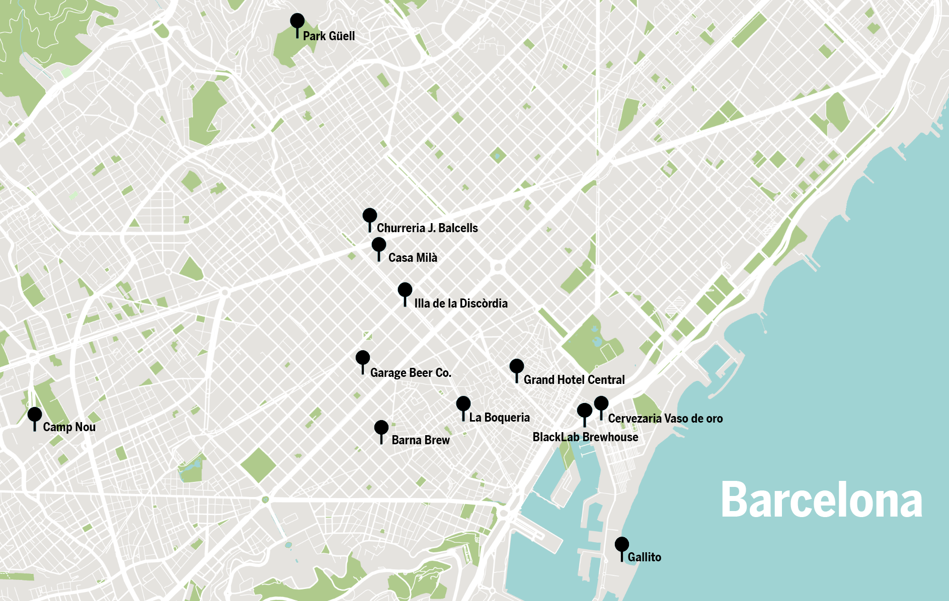 Barcelona Map - 2019